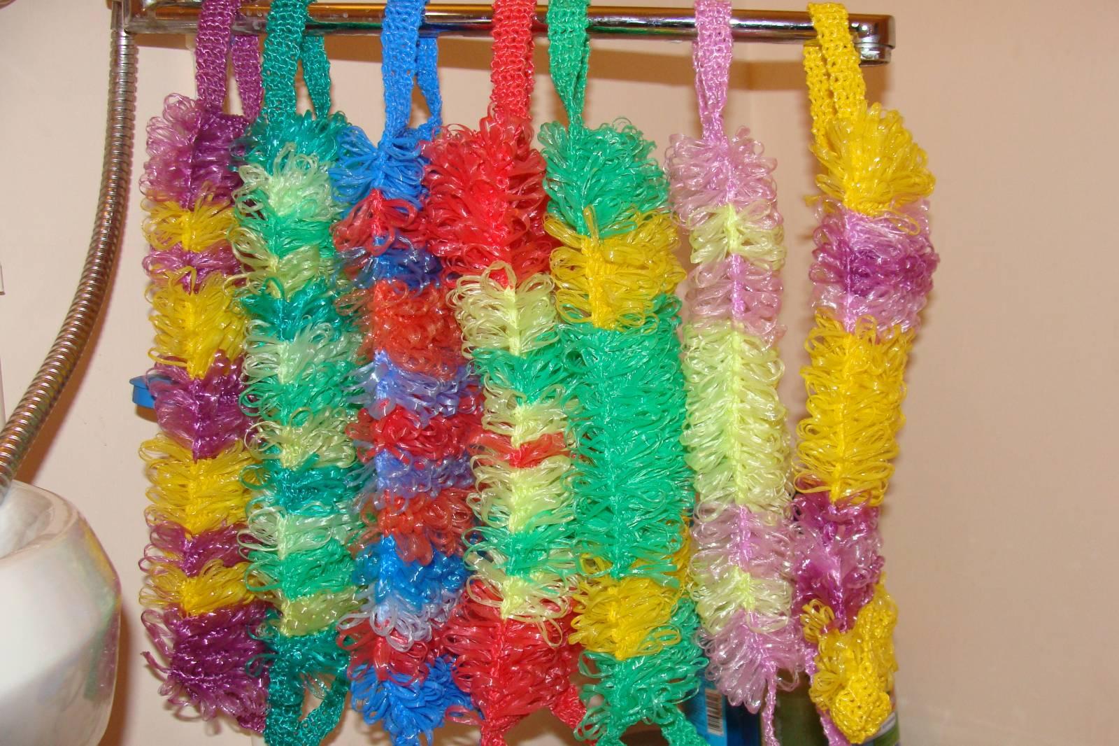 Плетение мочалок своими руками 29